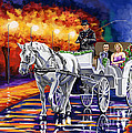 Horse Drawn Carriage Night by Tim Gilliland