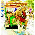 Horse Drawn Trolley Car Main Street Usa by A Gurmankin