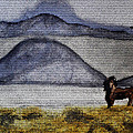 Horse Of The Mountains With Stained Glass Effect by Verana Stark