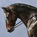 Horse Painting - Discipline by Crista Forest