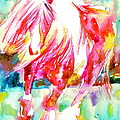 Horse Painting.22 by Fabrizio Cassetta