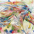 Horse Painting.24 by Fabrizio Cassetta