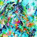 Horse Painting.30 by Fabrizio Cassetta