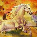 Horse Paintings 003 by Catf