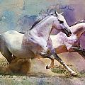 Horse Paintings 004 by Catf