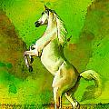 Horse Paintings 010 by Catf