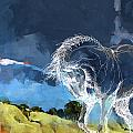 Horse Paintings 012 by Catf