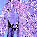 Horse Pale Purple 2 by Saundra Myles