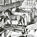 Horse Powered Stall Cleaner, 1880 by Science Source