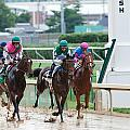 Horse Races At Churchill Downs by Alexey Stiop