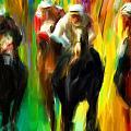 Horse Racing IIi by Lourry Legarde