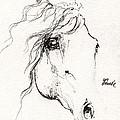 Horse Sketch 2014 05 24a by Angel Ciesniarska