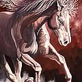 Horse Wild Fire by Tish Wynne