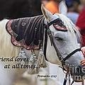 Horse With Scripture Verse by Jill Lang