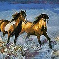 Horses In Water by Catherine Lott
