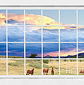 Horses On The Storm Large White Picture Window Frame View by James BO  Insogna