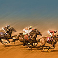 Horses Racing To The Finish Line by Eduardo Tavares