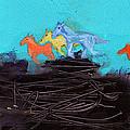 Horses Running On The Pass by Niya Christine
