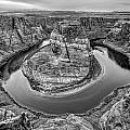 Horseshoe Bend Arizona Black And White by Todd Aaron