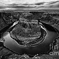 Horseshoe Bend Arizona Monochrome by Bob Christopher