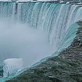 Horseshoe Falls Ice Formations by Ray Sheley