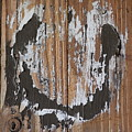 Horseshoe Print Wood by Sheri McLeroy