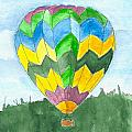 Hot Air Balloon 01 by Judith Rice