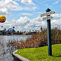 Hot Air Balloon And Old Key West Port Orleans Signage Disney World by Thomas Woolworth