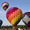 Hot Air Balloon Festival In Decatur Alabama  by Kathy Clark