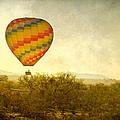 Hot Air Balloon Flight Over The Southwest Desert Fine Art Print  by James BO  Insogna