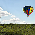 Hot Air Balloon In The Farmlands by Bill Cannon
