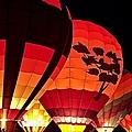 Hot Air Balloon Night Glow by Jeff Sinon