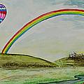 Hot Air Balloon Rainbow by Janis Lee Colon