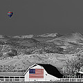 Hot Air Balloon With Usa Flag Barn God Bless The Usa Bwsc by James BO  Insogna