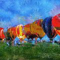 Hot Air Balloons Photo Art 01 by Thomas Woolworth