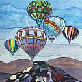 Hot Air Baloons by Donna Walsh