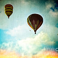 Hot Air Baloons In Blazing Sky by Eleanor Abramson