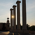 Hot Barcelona Afternoon - Magnificent Columns And Brilliant Sun Flares by Georgia Mizuleva