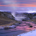 Hot Creek At Sunset Sierra Nevada by Tim Fitzharris