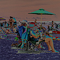 Hot Day At The Beach - Solarized by Suzanne Gaff