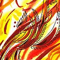 Hot Lines Twist Abstract by Irina Sztukowski