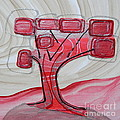 Hot Pink Geom Tree by L Cecka