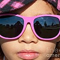 Hot Pink Sunglasses by Ann Horn