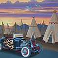 Hot Rod At The Wigwams by Stuart Swartz