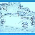 Hot Rod Digi Sketch by Bobbee Rickard
