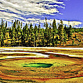Prismatic Geyser Yellowstone National Park by Bob and Nadine Johnston