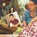 Hot Ticket Frida Kahlo Meta Portrait by Susan McNally