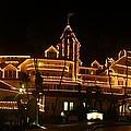 Hotel Del Coronado At Night Panorama by Nathan Rupert