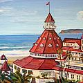 Hotel Del Coronado From Above by Robert Gerdes