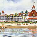 Hotel Del Coronado From Ocean by Mary Helmreich